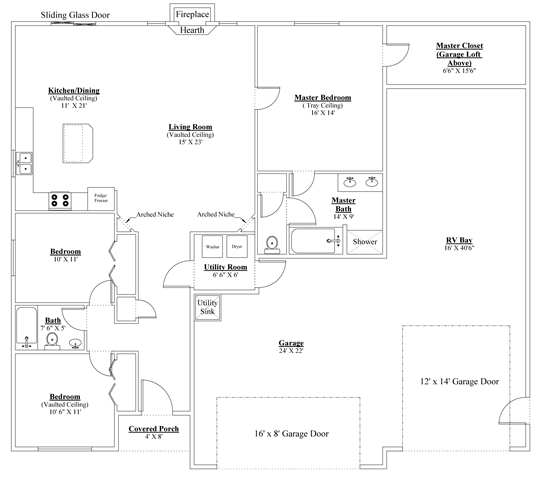Rv garage house plans house interior for Rv garage floor plans